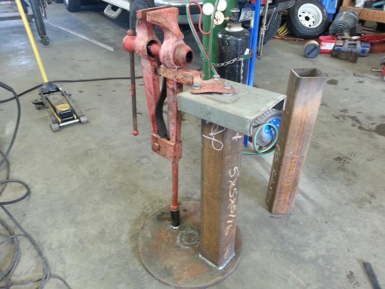 Leg Vise Post Vise Repair And Stand Morgan Jade Ironworks