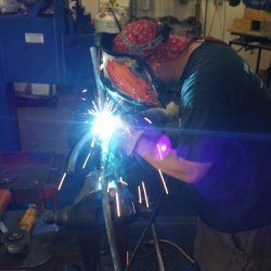 welding the nubs to the branches